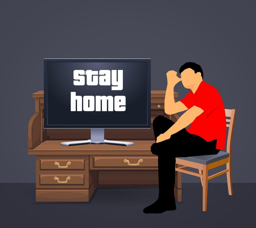 stay home, house, corona